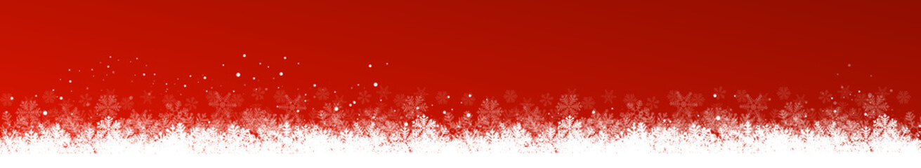 Wall Mural - Panorama red christmas background