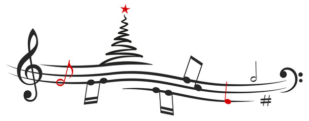 Christmas tree Music Note