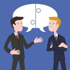 Solution - Homme d'affaires - Partenaires