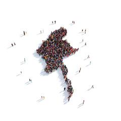 people group shape map Burma