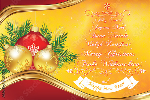 Christmas Wishes In Many Languages Greeting Card 2017 With Text In