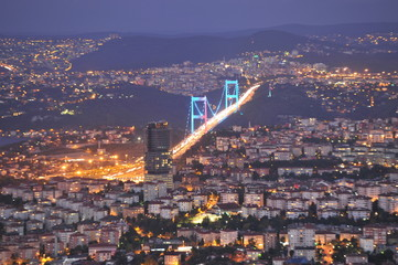 Aerial panoramic view of the Istanbul