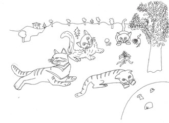 Various cats' characters
