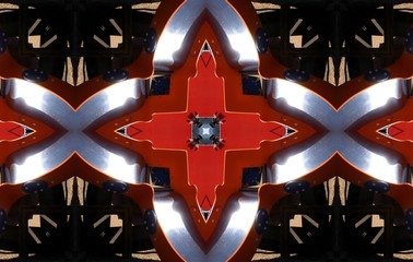 Creating geometric play children, cubist photography, abstract surreal view of a nursery facility for games, Munimara photos