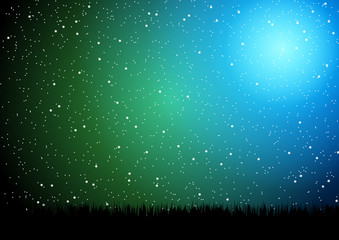 Night sky vector illustration