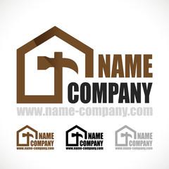 logo bricolage marteau artisan aménagement comble