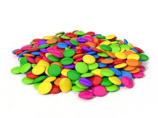 3d illustration of candy stack.