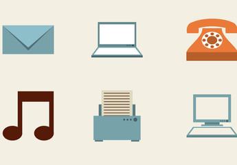 30 Assorted Retro Style Icons