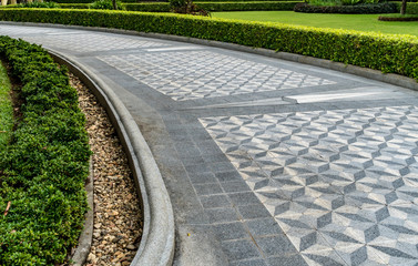 Concrete Pathway in the park