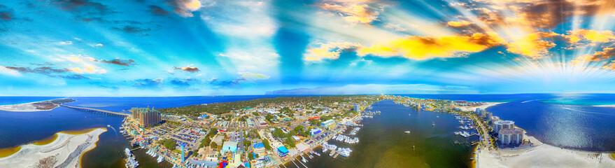 Destin aerial view at dusk, Florida