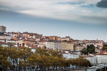La Croix-Rousse à Lyon vu du Pont Morand