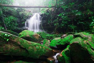 Saithip waterfall in Phu Soi Dao National Park