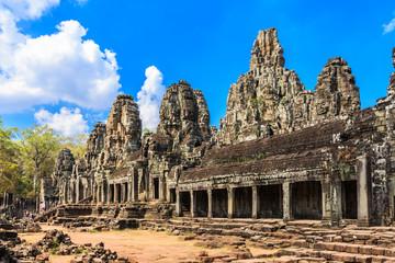 Angkor, Cambodia. Bayon Temple Angkor Thom. Ancient Khmer architecture.