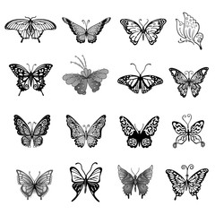 Butterfly logo set