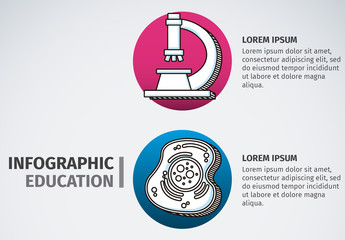 Science and Education Infographic with Hand Drawn Style Icons 1