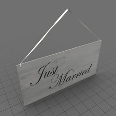 Just Married Sign 1