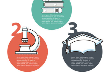 Science and Education Infographic with Hand Drawn Style Icons 3