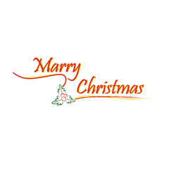 Christmas concept by logo marry christmas or xmas