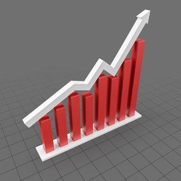 Rising Arrow Chart Symbol