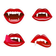 Vampire lips vector illustration