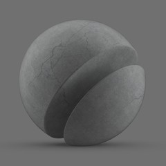 Concrete Cracked Smooth