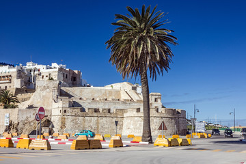 Wall Murals Egypt Morocco, Tanger, Ancient fortress in old town.