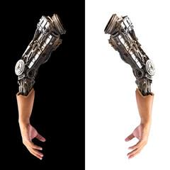 Metallic robot hand