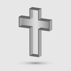 church cross symbol. Christian symbol of religion. Vector illustration.