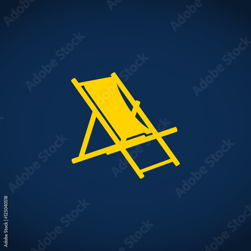 Beach chair icon beach chaise longue stock image and for Beach chaise longue