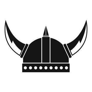 Viking helmet icon. Simple illustration of viking helmet vector icon for web