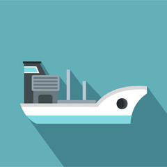 Marine ship icon. Flat illustration of marine ship vector icon for web
