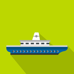 Passenger ship icon. Flat illustration of passenger ship vector icon for web