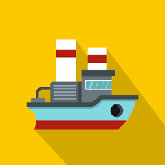 Small ship icon. Flat illustration of small ship vector icon for web