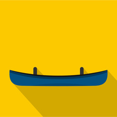 Small boat icon. Flat illustration of small boat vector icon for web