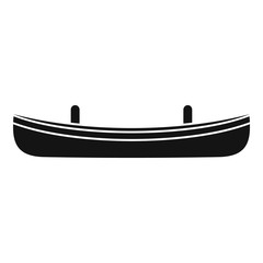 Small boat icon. Simple illustration of small boat vector icon for web