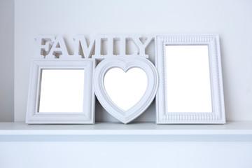white ceramic photo frame