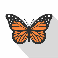 Big butterfly icon. Flat illustration of big butterfly vector icon for web
