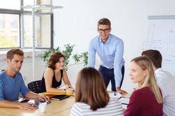 besprechung in der firma