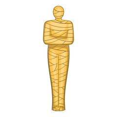 Ancient mummy icon. Cartoon illustration of mummy vector icon for web design