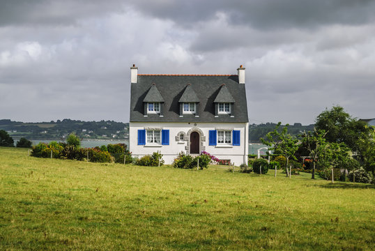 old brittany typical country house in France, Europe