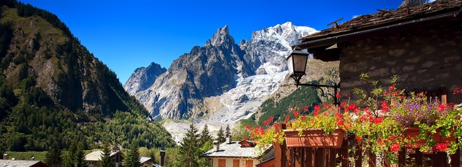 Mont Blanc, Courmayeur, Italy Wall mural