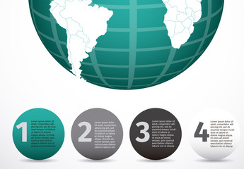 Teal Globe International Data Infographic