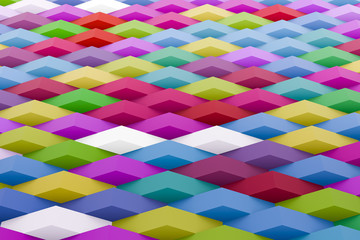 3d rendering of colorful geometric texture