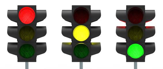 Ampel rot, gelb, grün