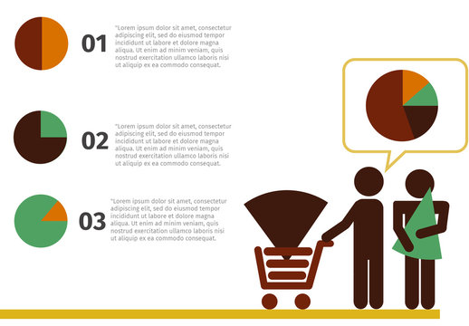 Simple E-Commerce Infographic with Pictogram Shopper Icon 2