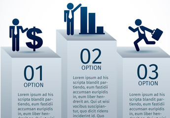 Stairstep Podium Business Infographic and Pictograms