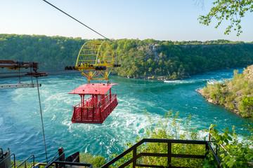 Whirlpool Aero Car at Niagara, Canada. Beautiful and scenic view of the Whirlpool at Niagara falls.