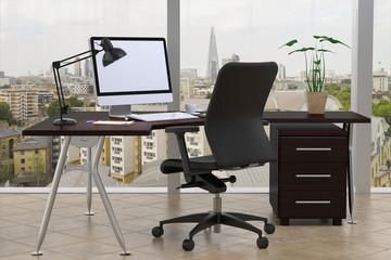 Büro Schreibtisch mit Aussicht