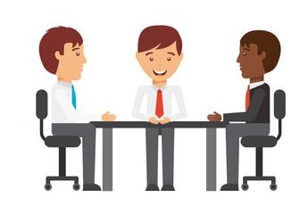 Businessmen Teamwork Icon Set