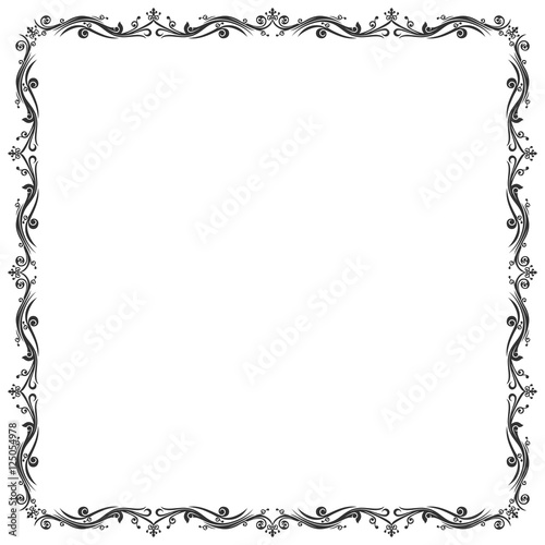 """Frame Batik and Abstract Border"" Stock image and royalty"
